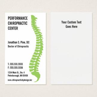Tarjetas del doctor visita del Chiropractor del