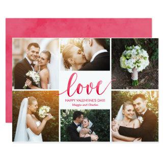 Tarjetas del el día de San Valentín del collage Invitación 12,7 X 17,8 Cm