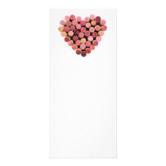 Tarjetas del estante del corazón del corcho del vi tarjetas publicitarias personalizadas