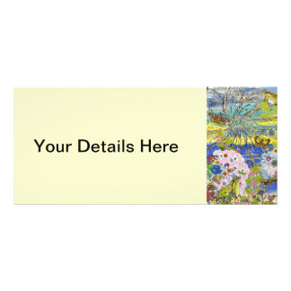 Tarjetas del estante del paraíso de las ranas tarjetas publicitarias a todo color