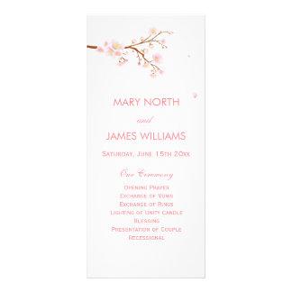 Tarjetas del estante del programa del boda de