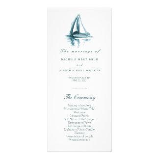 Tarjetas del estante del programa del boda del lonas publicitarias