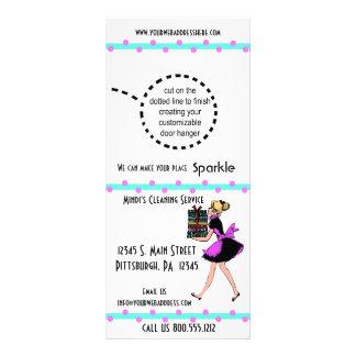 Tarjetas del estante del servicio de la limpieza tarjetas publicitarias