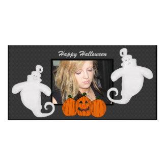 Tarjetas del fantasma y de la foto del feliz tarjeta fotografica