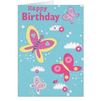 Tarjetas del feliz cumpleaños de la mariposa