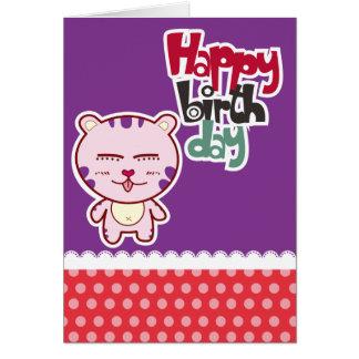 Tarjetas del feliz cumpleaños del tigre