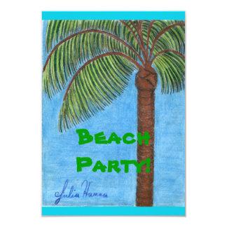 Tarjetas del fiesta de la playa