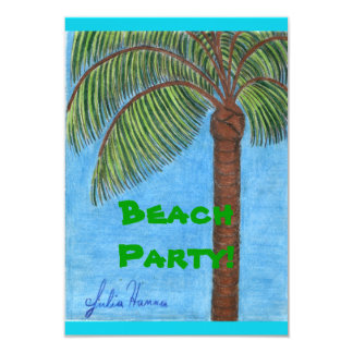 Tarjetas del fiesta de la playa invitación 8,9 x 12,7 cm
