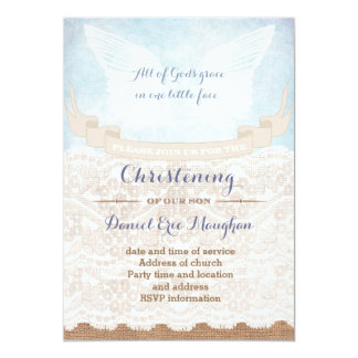 Tarjetas del fiesta del bautizo para el muchacho,