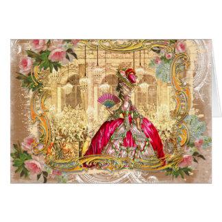 Tarjetas del fiesta del rosa de Marie Antonieta