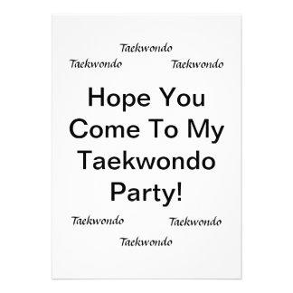 Tarjetas del fiesta del Taekwondo