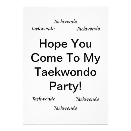 Tarjetas del fiesta del Taekwondo Anuncios Personalizados