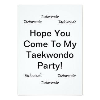 Tarjetas del fiesta del Taekwondo Invitación 12,7 X 17,8 Cm