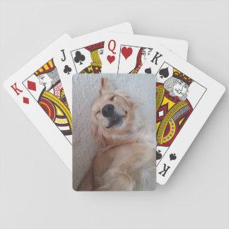 Tarjetas del golden retriever baraja de cartas