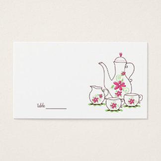 Tarjetas del lugar de la fiesta del té