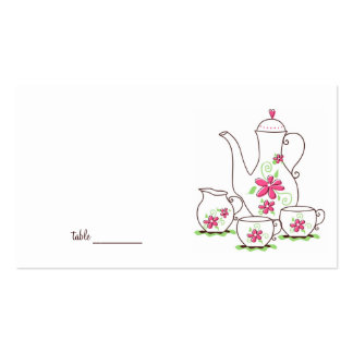 Tarjetas del lugar de la fiesta del té tarjeta personal