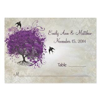 Tarjetas del lugar de la tabla del árbol de la plantilla de tarjeta de visita