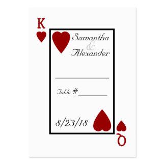 Tarjetas del lugar de la tabla del rey/de la reina tarjeta de visita