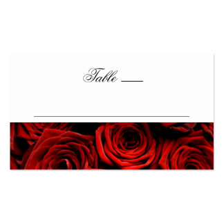 Tarjetas del lugar de la tabla plantilla de tarjeta personal