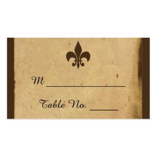 Tarjetas del lugar del boda de la flor de lis del tarjetas de visita