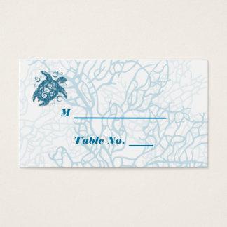 Tarjetas del lugar del boda del amor de la tortuga