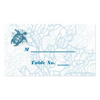 Tarjetas del lugar del boda del amor de la tortuga tarjetas de visita