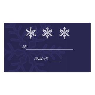 Tarjetas del lugar del boda del invierno del copo tarjetas de visita