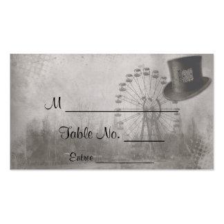 Tarjetas del lugar del boda del sombrero de copa tarjetas de visita