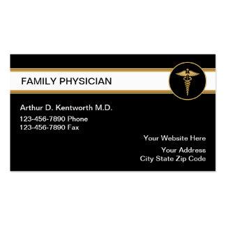 Tarjetas del médico de cabecera visita tarjetas de negocios