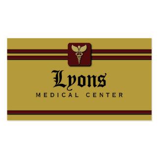 Tarjetas del médico visita de la atención tarjetas de visita