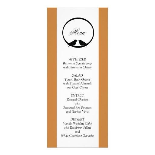 Tarjetas del menú de la recepción nupcial de los L Invitaciones Personalizada