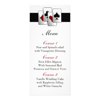 Tarjetas del menú del boda de Las Vegas Lona Publicitaria