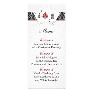 Tarjetas del menú del boda de Las Vegas Plantilla De Lona