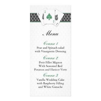 Tarjetas del menú del boda de Las Vegas Tarjetas Publicitarias A Todo Color