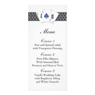 Tarjetas del menú del boda de Las Vegas Lona Personalizada