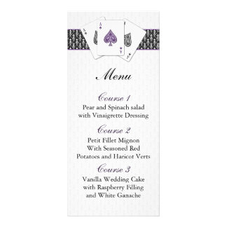 Tarjetas del menú del boda de Las Vegas Tarjeta Publicitaria Personalizada