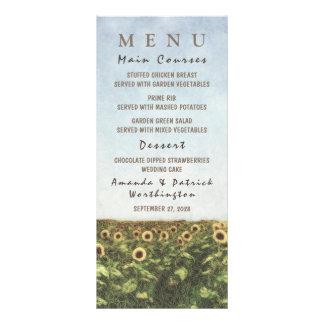 Tarjetas del menú del boda del país de la acuarela tarjeta publicitaria personalizada
