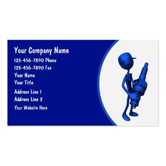 Tarjetas del negocio automovilístico tarjetas de visita