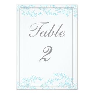 Tarjetas del número de la tabla de la recepción de invitación 12,7 x 17,8 cm