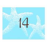Tarjetas del número de la tabla de las estrellas d tarjeta postal