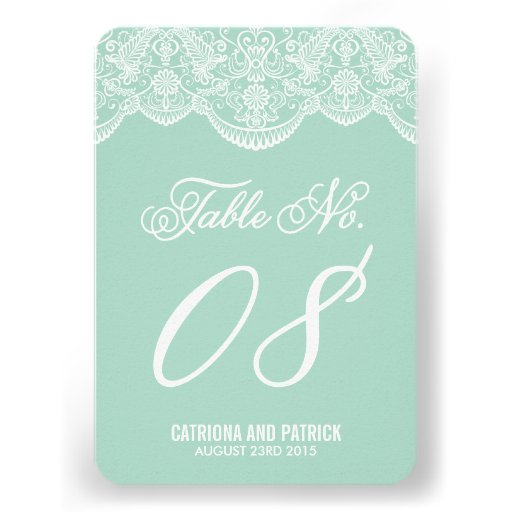 Tarjetas del número de la tabla del boda del cordó invitación
