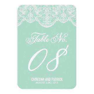 Tarjetas del número de la tabla del boda del invitación