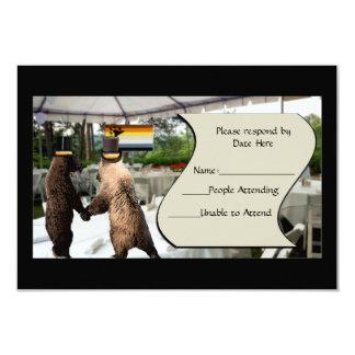 Tarjetas del oso de RSVP gay del boda o de la Invitación