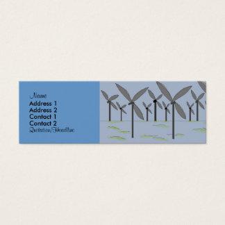 Tarjetas del perfil de los molinoes de viento