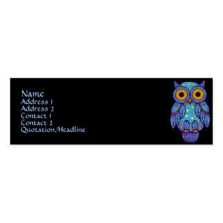 Tarjetas del perfil del búho de H00t Tarjetas De Visita Mini