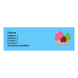 Tarjetas del perfil del cono de helado tarjetas de visita mini