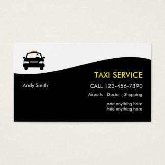 Tarjetas del perfil del negocio del taxi