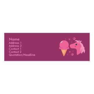 Tarjetas del perfil del potro del helado tarjetas de visita mini