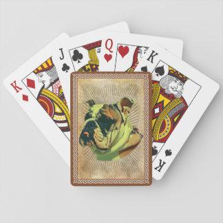 Tarjetas del póker del dogo: Naipes estándar
