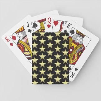 Tarjetas del póker del negro de la estrella del barajas de cartas